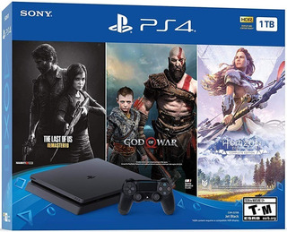 Consola Playstation 4 Slim 1tb Con 3 Juegos 1 Año Garantia