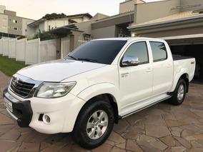 Toyota Hilux 2.7 Srv Cd Cab. Dupla 4x4 Flex Aut. 4p Branca!!