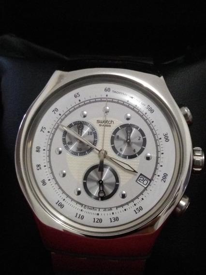 Relógio Swath Swiss Irony ,original Cronógrafo, Impecável