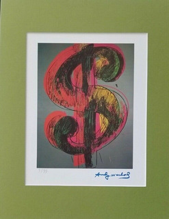 Money Sign Andy Warhol 1983 8/99