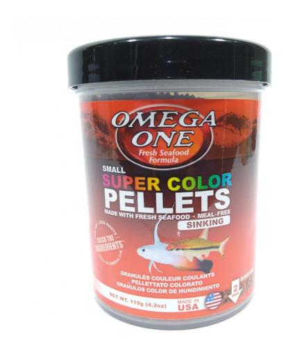 Super Color Pellets 119gr 2mm Omega One Para Peces