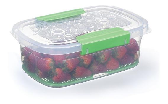 Pote Plástico Com Tela Guarda Conserva Cozinha 4 Litros
