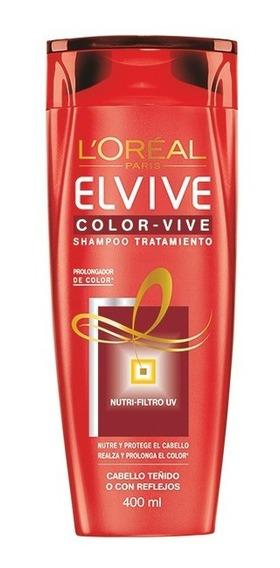 Color-vive Shampoo Tratamiento Elvive Loreal Paris 400ml