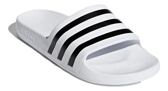 Ojotas adidas Lifestyle Unisex Adilette Aqua Blanco Ras