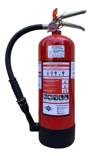 Imagen 1 de 4 de Extintor Profesional Cold Fire 9 Litros Color Rojo