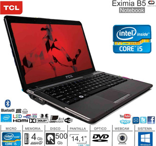 Notebook 14 Tcl Eximia B5 I5/4/500/dvd/w8