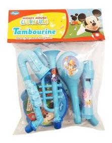 Kit Com Instrumentos Musicais Infantil 6 Peças Mickey Disney