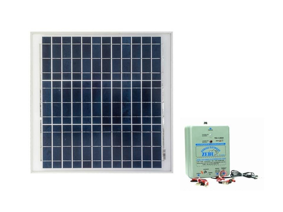 Kit Eletrificador De Cerca Animal 80 Km Zebu + Placa Solar