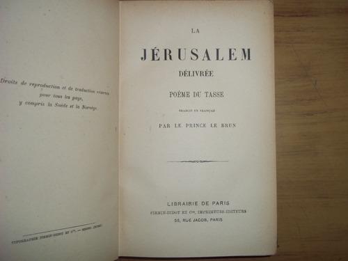 La Jérusalem Délivrée Poéme Du Tasse Libro En Francés 150000