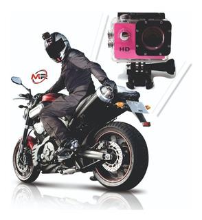 Camara Casco Moto Deportiva Sumergible Tipo Gopro Full Hd