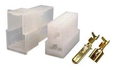 Conector 2 Vias Quadrado Com Terminais- Kit Com 10 Conjuntos