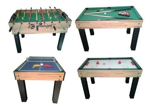 Futbolin 4 En 1, Dinamo Hockey, Billar Pool, Mesa Ping Pong
