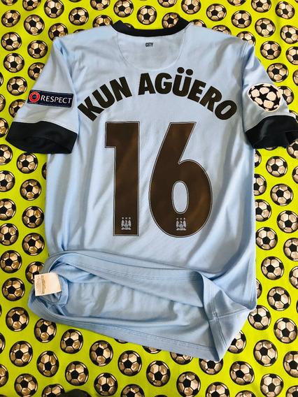 Jersey Camiseta Nike Manchester City 2014 2015 Kun Aguero