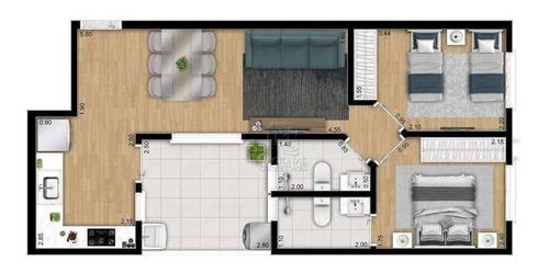 Apartamento Com 2 Dormitórios À Venda, 50 M² Por R$ 305.000,00 - Campestre - Santo André/sp - Ap11024