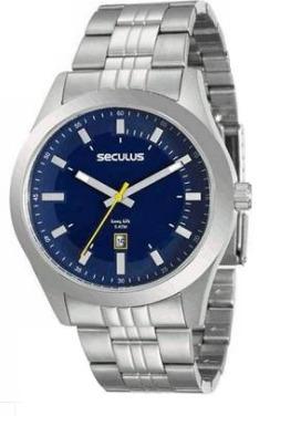 Relógio Masculino Seculus 20408g0svna4- 2 Anos De Garantia