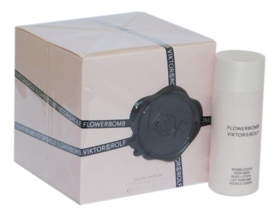 Perfume Flowerbomb Edp 50 Ml Kit Feminino Original Lacrado