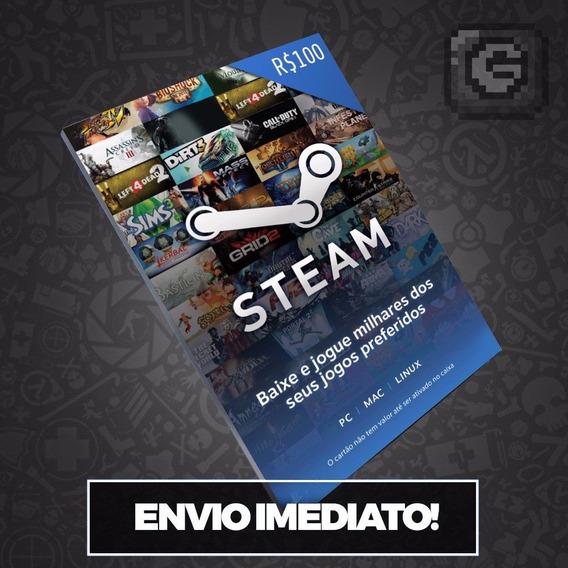 Steam Cartão Pré-pago R$100 Reais (r$50+r$50) Card -imediato