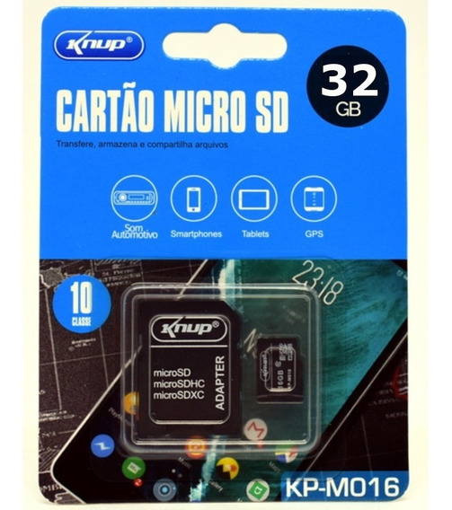 Cartão De Memória 32gb Micro Sd Com Adaptador Sd, Sdhc, Sdxc