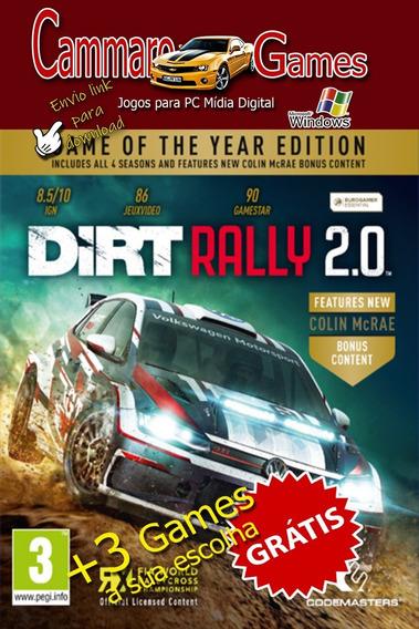Dirt Rally 2.0: Edição Do Jogo Do Ano + 3 Games Da Loja