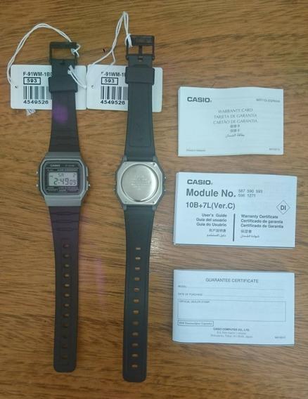 Relógio Casio Unissex F-91wm-1bdf Original Pronta Entrega