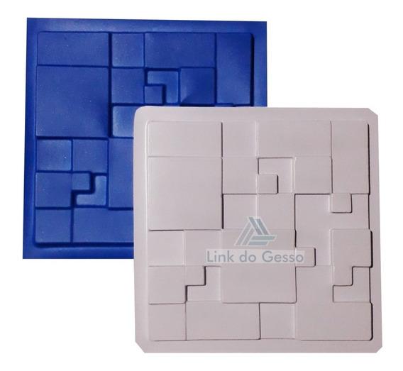 Forma 3d Gesso Plastico + Borracha Mosaico Cubos Lg0030