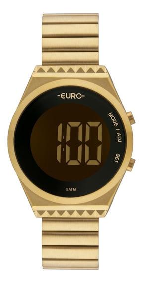 Relógio Feminino Euro Fashionfit Slim Eubjt016aa/4d Dourado