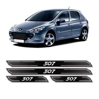 Kit Soleira Da Porta Diamante Peugeot 307 Adesivo Resinado