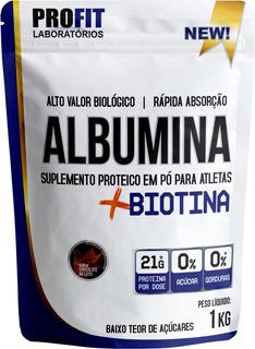 Albumina Refil + Biotina - 1kg - Profit Labs