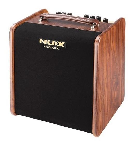 Amplificador Para Violão Nux Stageman Ac 50 Efx Digital