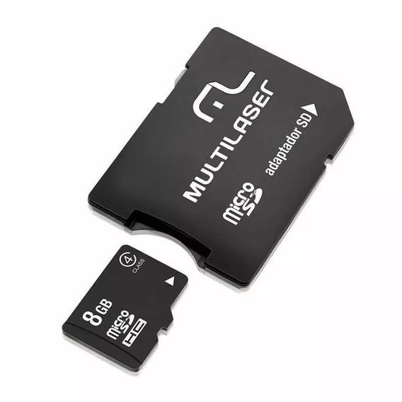 Kit C/ 10 Cartão Memória Micro Sd 8gb C/adap Classe 4 Mc004