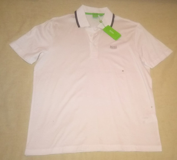 Playera Polo Hugo Boss Blanca Mediana 100% Original