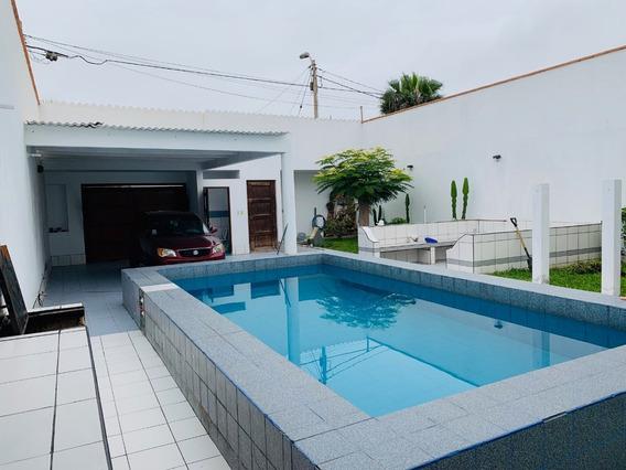 Verano 2020..! Alquilo Casa De Playa Con Piscina En Salinas