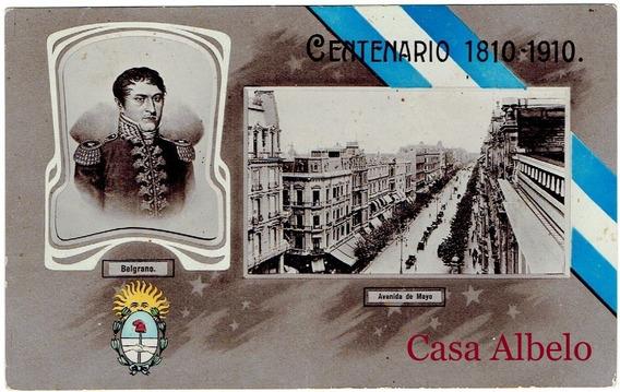 Centenaria 1810/1910 - Avenida De Mayo - Belgrano