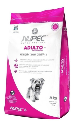 Imagen 1 de 1 de Alimento Nupec Nutrición Científica Raza Pequeña para perro adulto de raza pequeña sabor mix en bolsa de 8kg