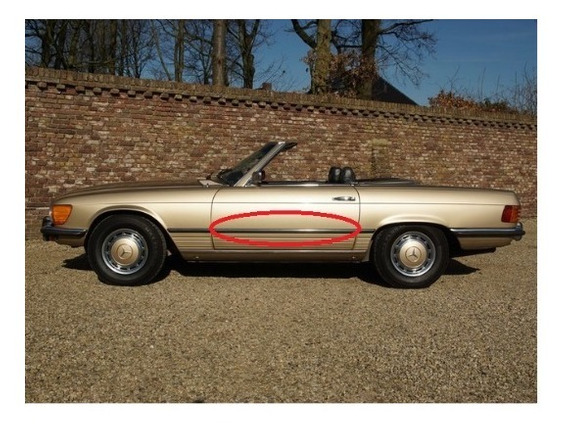 Friso Da Porta Mercedes 350, 450 Sl 1972 A 1989 Usados