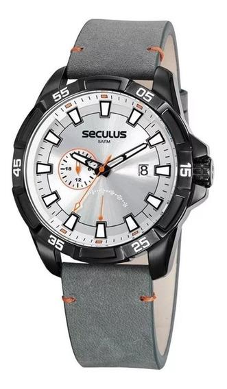 Relógio Seculus Masculino 20829gpsvpc2 Multifunção Black