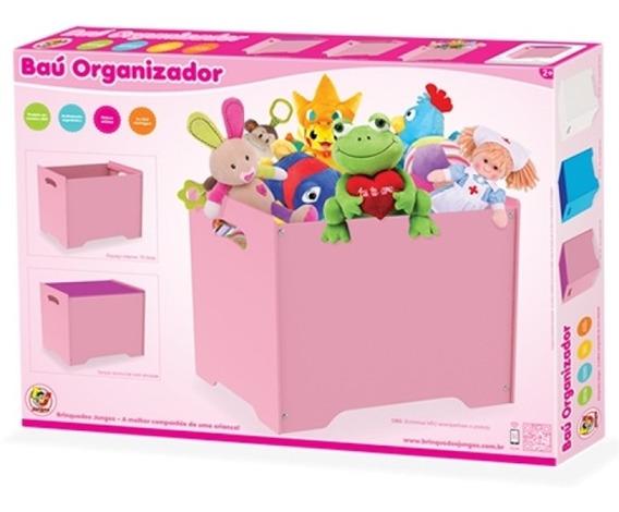Caixa Organizadora Armario Desmontavel Rosa Porta Brinquedos