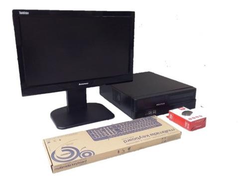 Cpu Positivo I3 2°gen+monitor+mouse+teclado+ssd240gb 4gb Ram