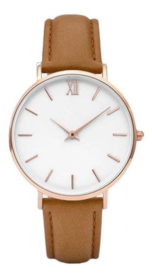Moda Nuevo Reloj De 40 Mm Simple Perno Escala Romana Señoras