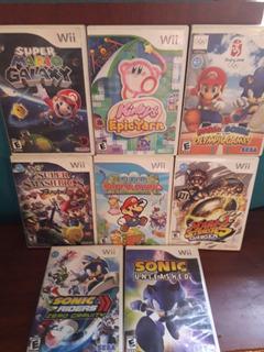Juegos Wii Mario Galaxy Kirby Paper Mario Smash Brawl Sonic