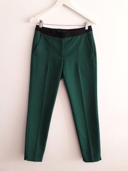 Pantalón De Vestir Zara Basic Chupin Elastizado Talle Xs