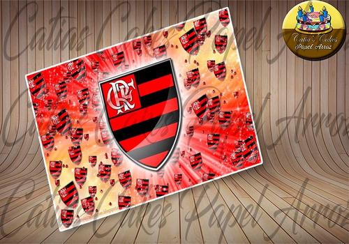Papel De Arroz Para Bolo Comestível 20 X 30 Cm Flamengo
