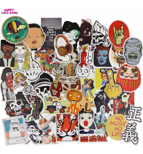 Stickers Pack 30 Unidades 5-7cm Para Laptop Cuaderno Moto *