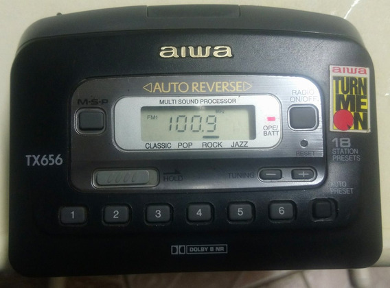 Walkman Aiwa Tx656 Com Fone Original A170