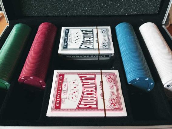 Fichas De Poker 200 Con Maletin Y Accesorios