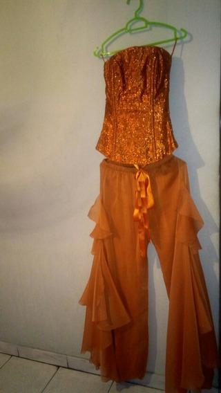 Conjunto De Fiesta Para Damas De Pantalon Y Corset