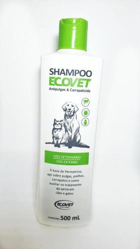 Shampoo Anti-pulgas Carrapatos Sarna Cachorro Gato Pet 500ml