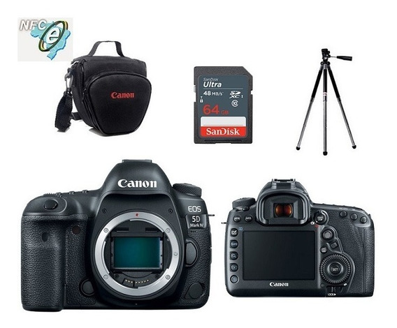 Canon Eos 5d Mark Iv Corpo + Bolsa+tripé+64gb Nota Fiscal