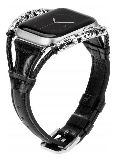 Correa De Piel Compatible Con Apple Watch