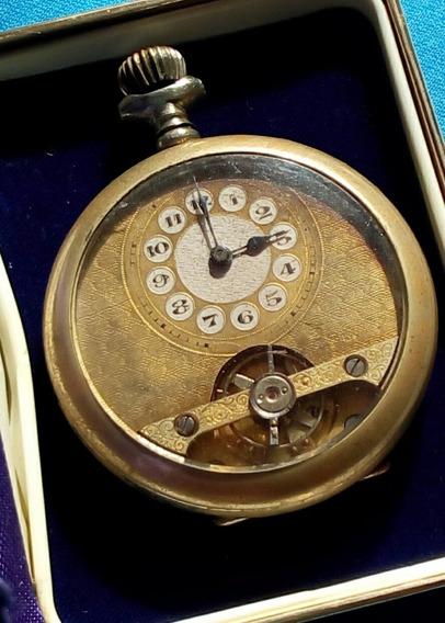Relógio De Bolso Inglês Movido A Corda. Anterior A 1920